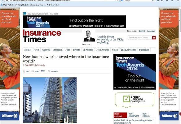 New homes: who's moved where in the insurance world?