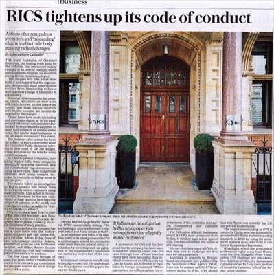 RICS Brings Hammer Down on Unscrupulous Business Rates Advisors